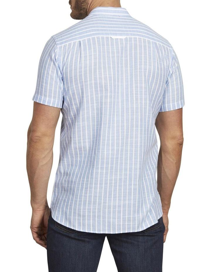 Linen Look Bengal Stripe Short Sleeve Shirt image 3