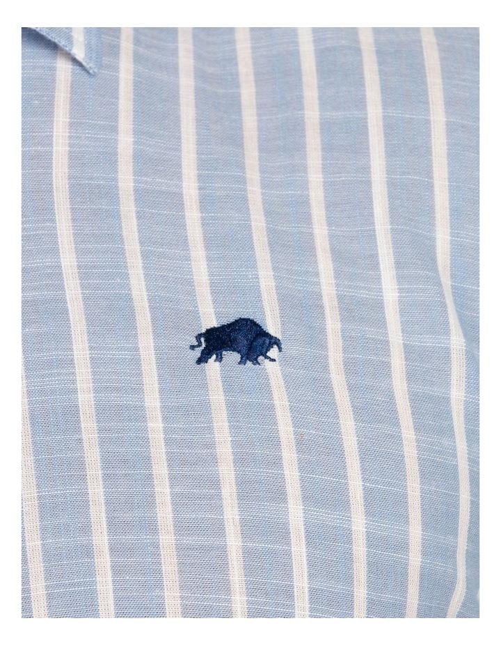 Linen Look Bengal Stripe Short Sleeve Shirt image 4