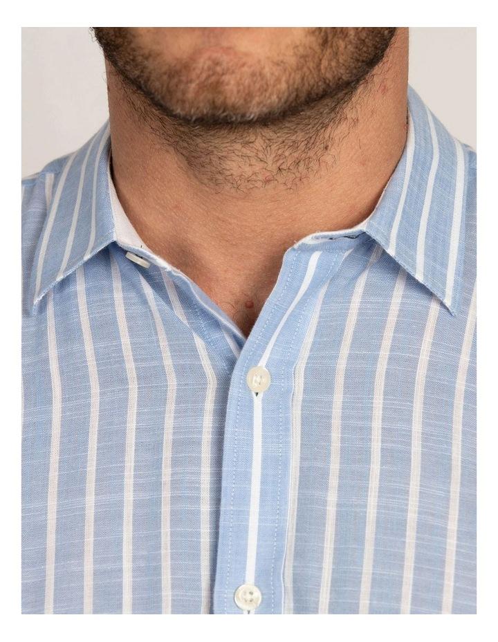 Linen Look Bengal Stripe Short Sleeve Shirt image 5