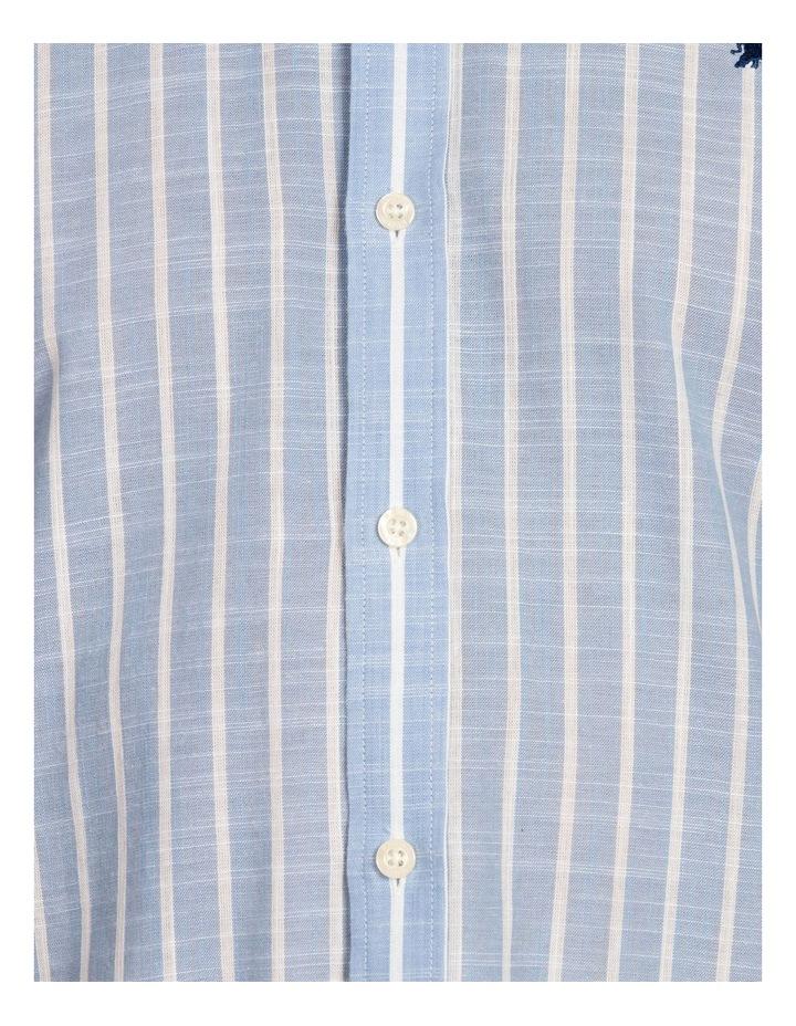 Linen Look Bengal Stripe Short Sleeve Shirt image 6