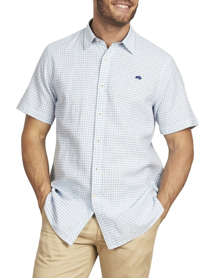 Linen Look Gingham Short Sleeve Shirt image 1