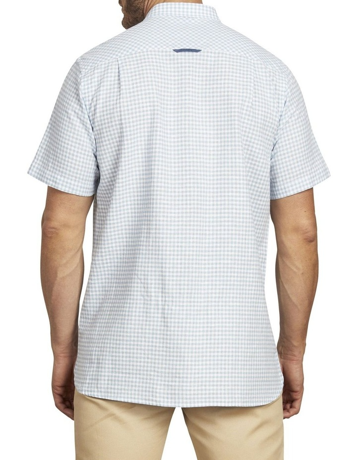 Linen Look Gingham Short Sleeve Shirt image 3