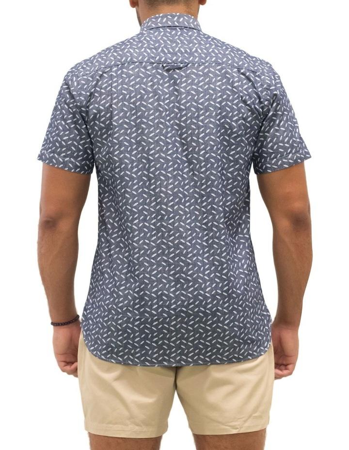 Short Sleeve Indigo Feather Print Shirt image 2