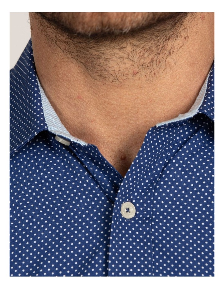 Polka Dot Print Poplin Long Sleeve Shirt image 4