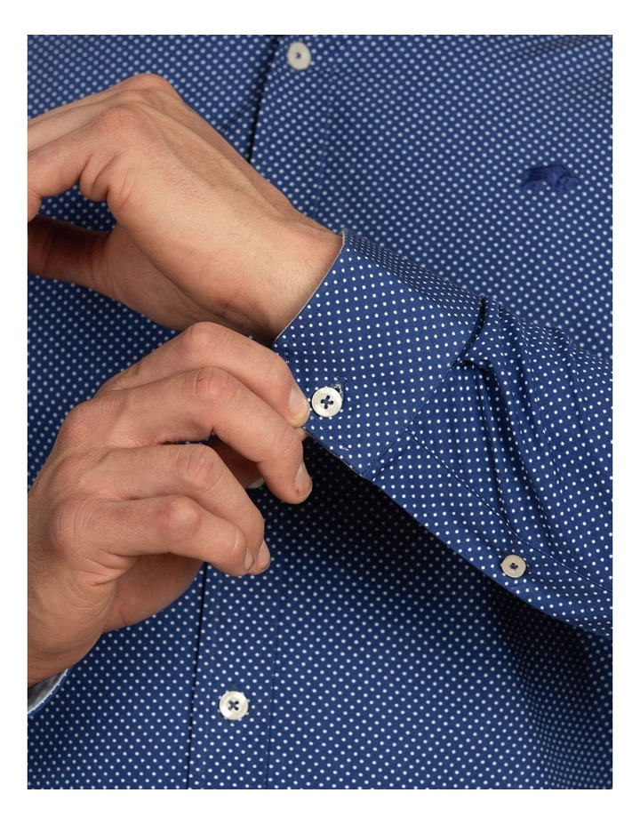 Polka Dot Print Poplin Long Sleeve Shirt image 5