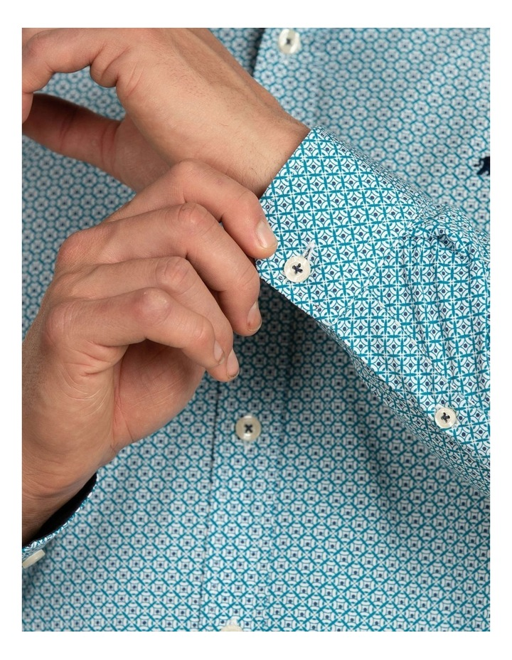 Geo Print Poplin Long Sleeve Shirt image 4