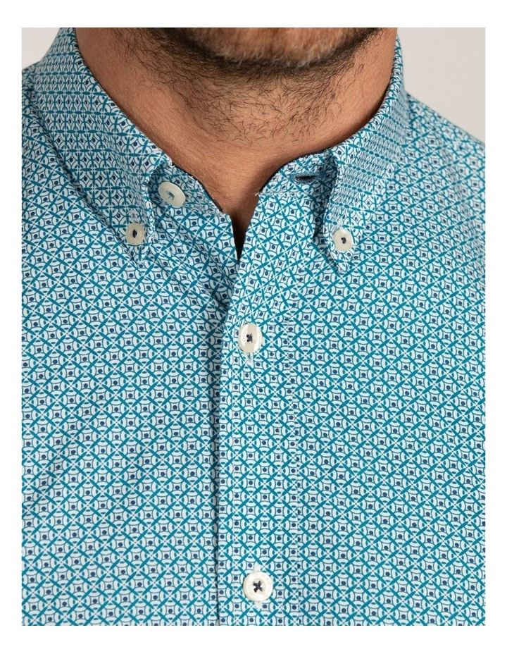 Geo Print Poplin Long Sleeve Shirt image 5