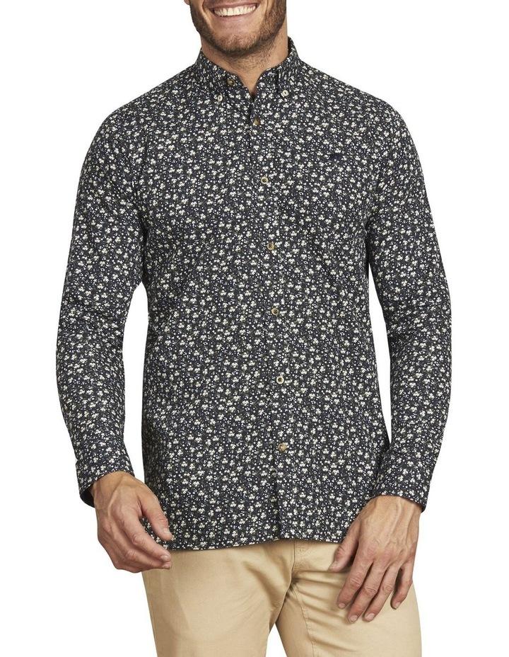 Ditzy Floral Print Poplin Long Sleeve Shirt image 1