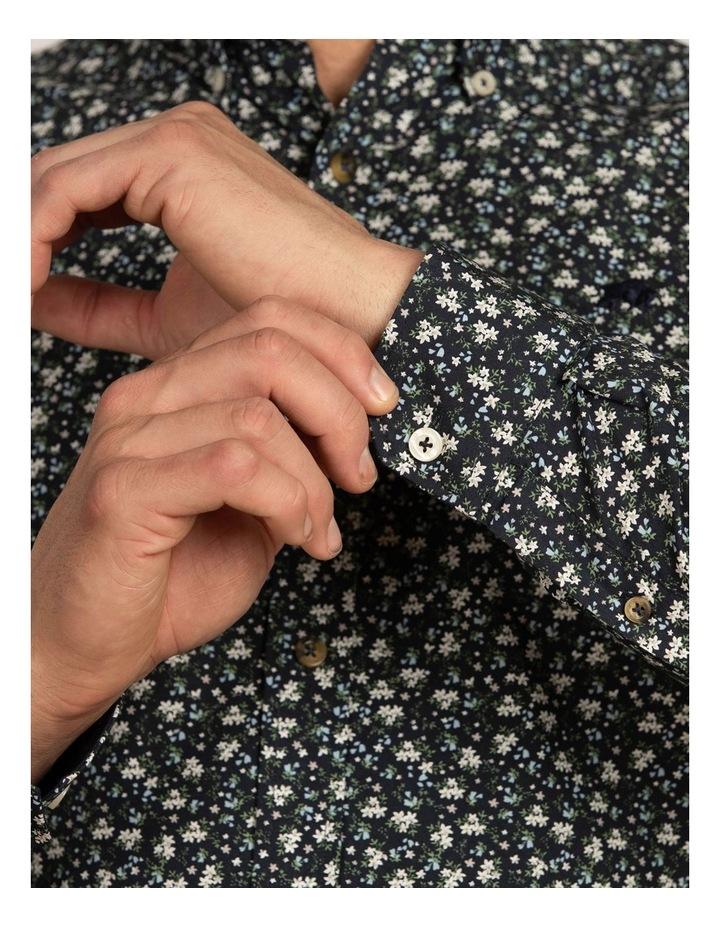 Ditzy Floral Print Poplin Long Sleeve Shirt image 6