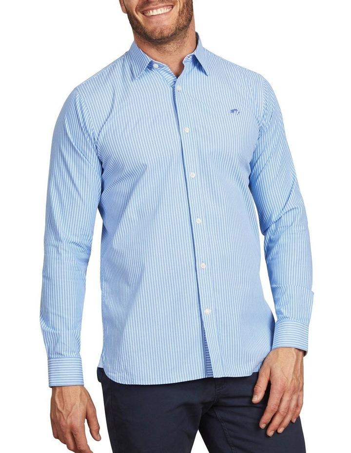 Pinstripe Poplin Long Sleeve Shirt image 1