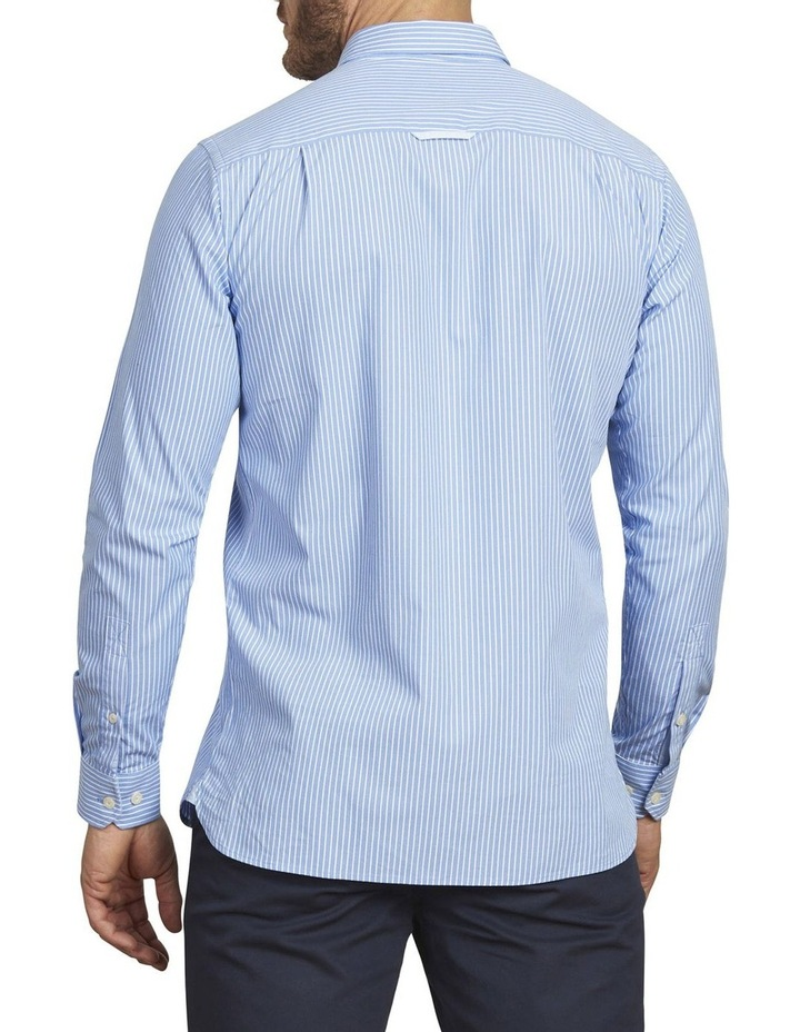 Pinstripe Poplin Long Sleeve Shirt image 3