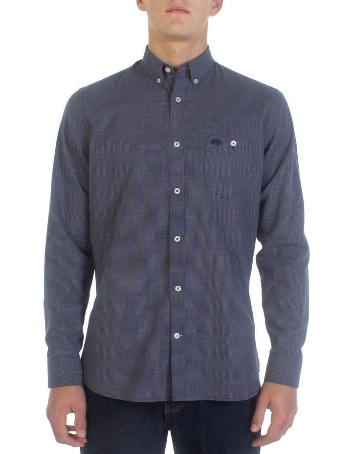 Geometric Dobby Long Sleeve Shirt image 1