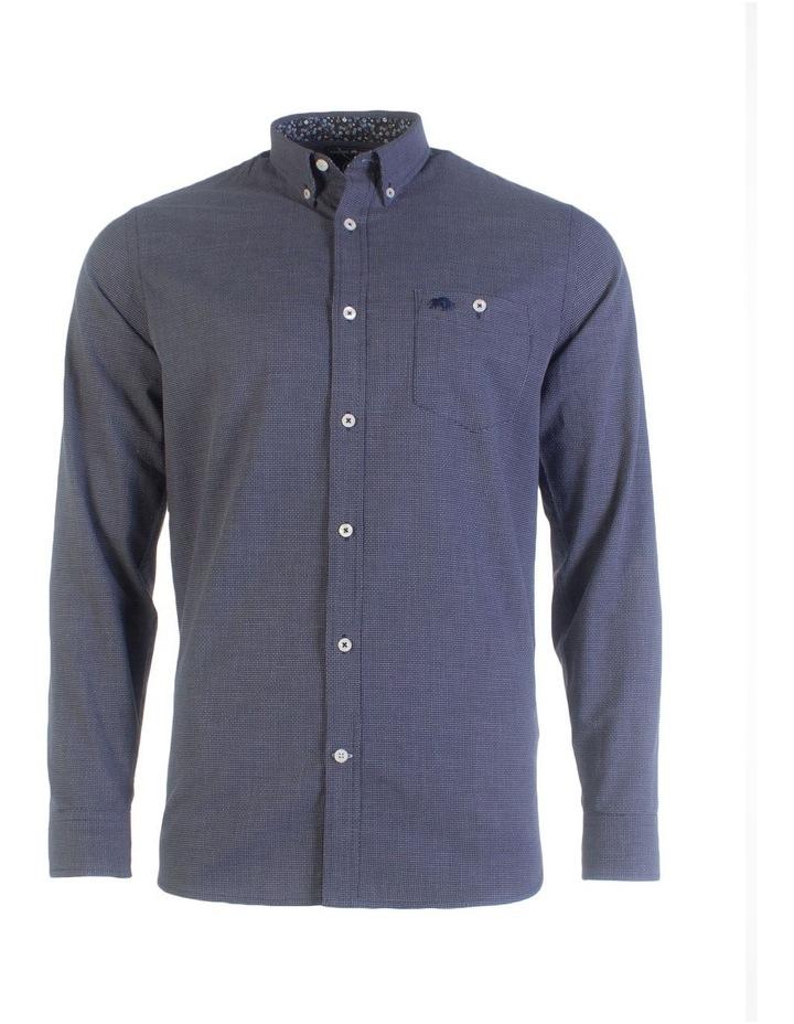Geometric Dobby Long Sleeve Shirt image 3