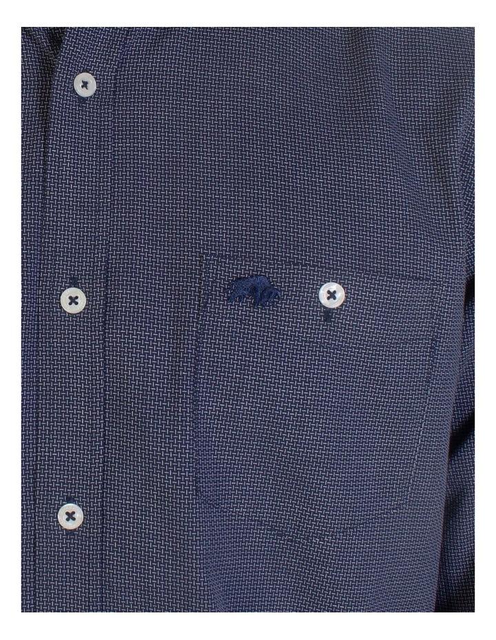 Geometric Dobby Long Sleeve Shirt image 4