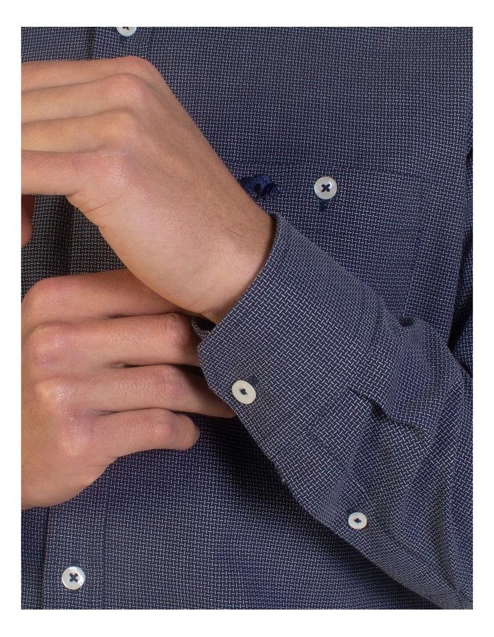 Geometric Dobby Long Sleeve Shirt image 6
