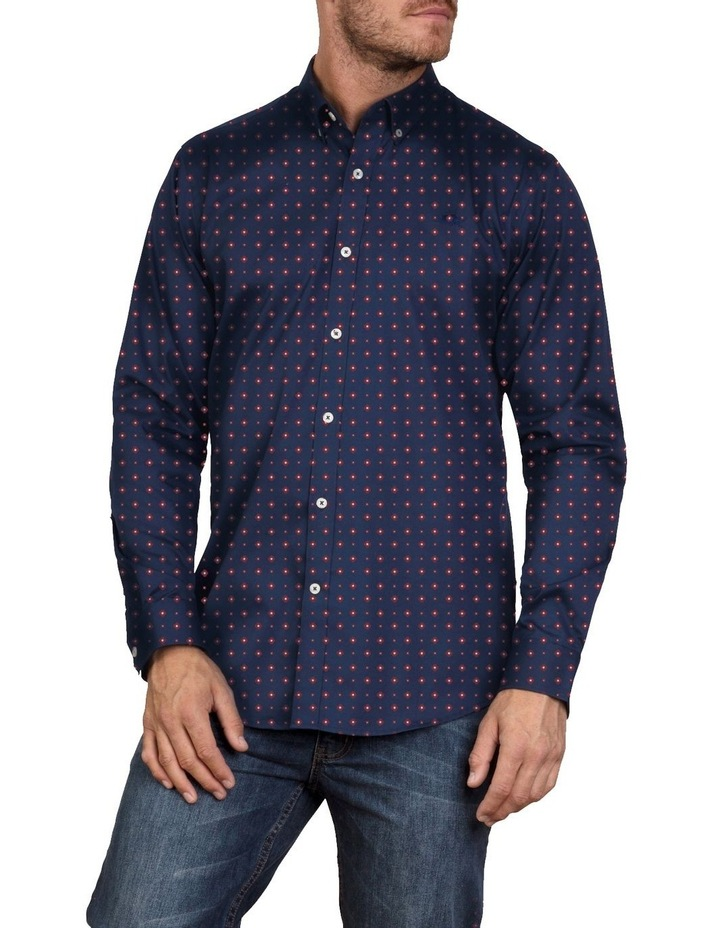 Printed Poplin Long Sleeve Shirt image 1