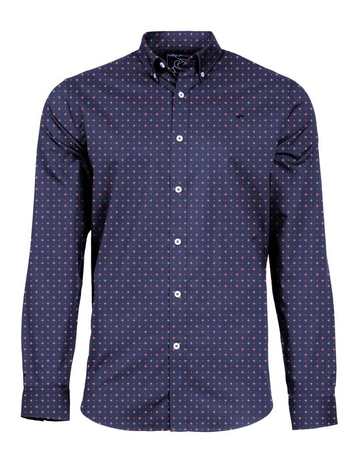 Printed Poplin Long Sleeve Shirt image 3