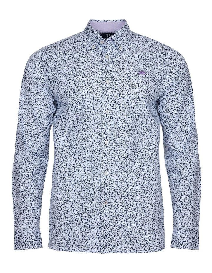 Dhalia Floral Printed Poplin Long Sleeve Shirt image 3