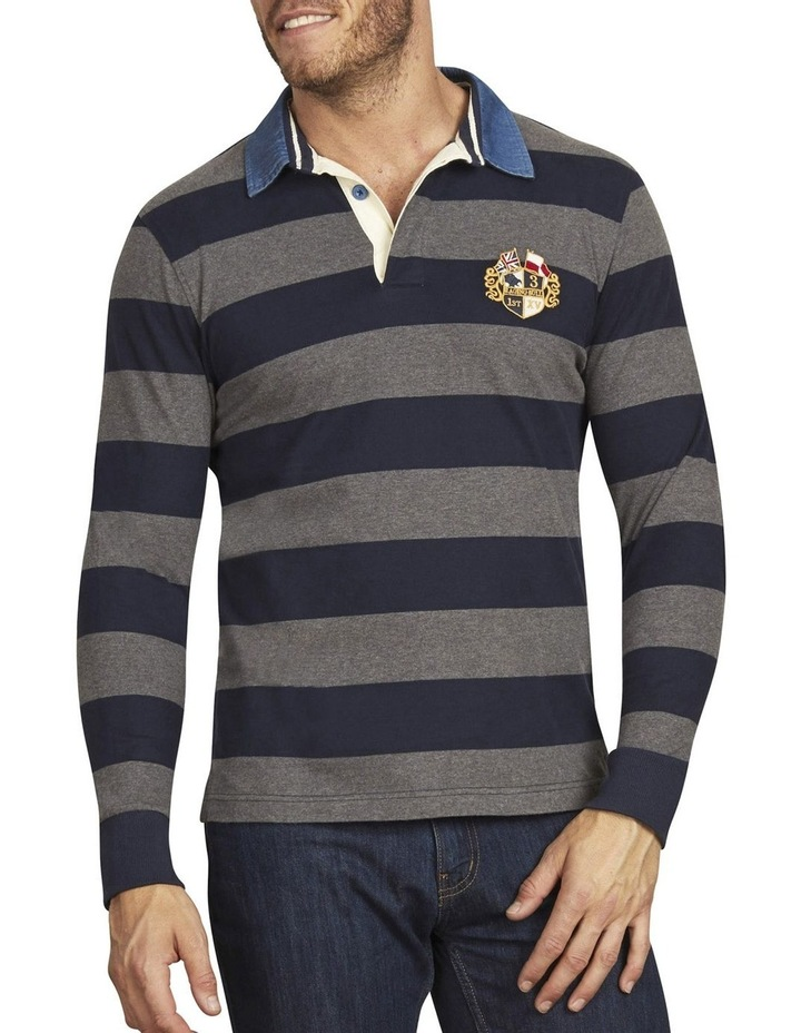 Long Sleeve Hooped Rugby image 1