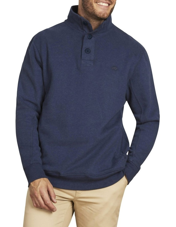Signature Button Up Jersey Sweat Top image 1