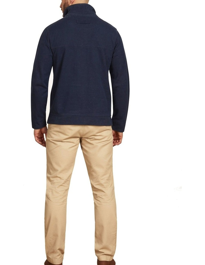 Signature Button Up Jersey Sweat Top image 3