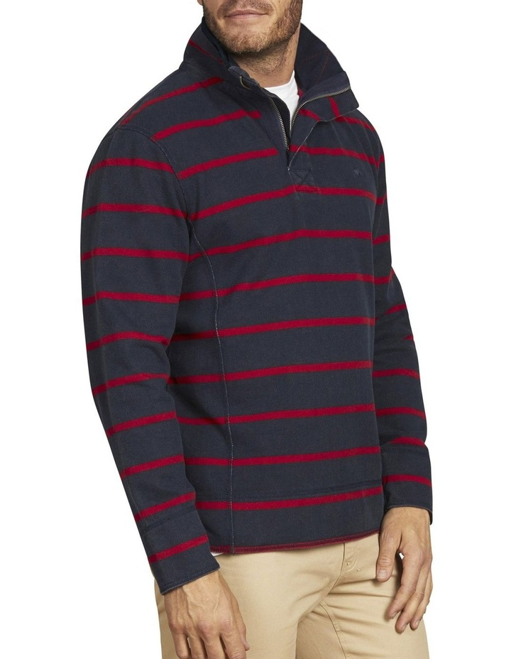 Pigment Stripe Pique Quarter Zip Sweat Top image 2