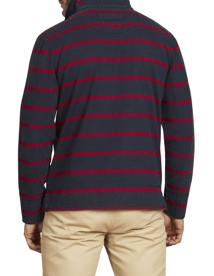 Pigment Stripe Pique Quarter Zip Sweat Top image 3