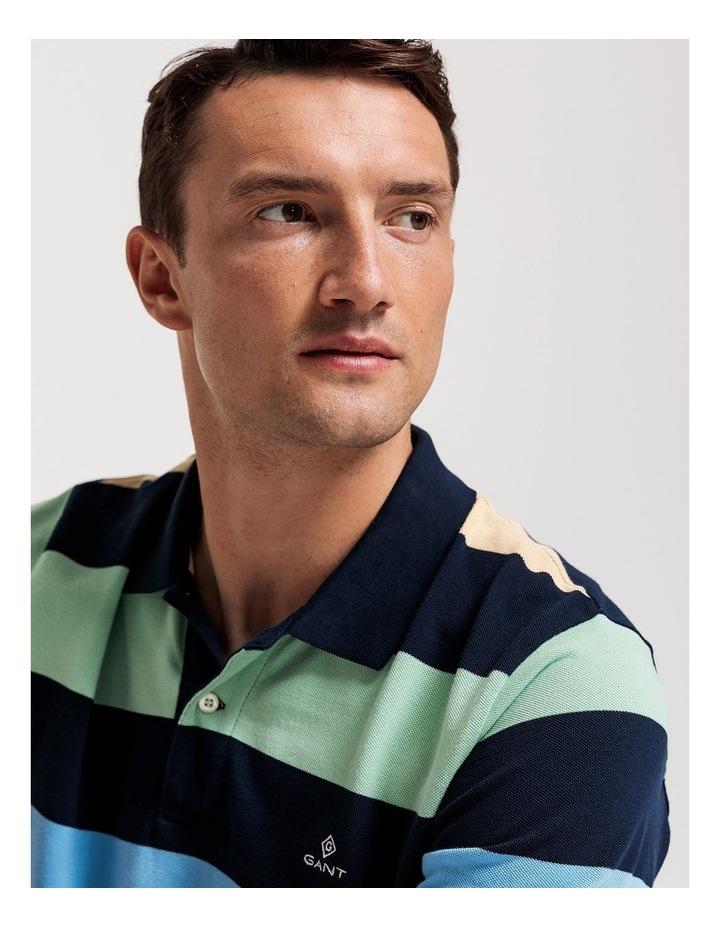 Barstripe Pique Short Sleeve Rugger Polo image 3
