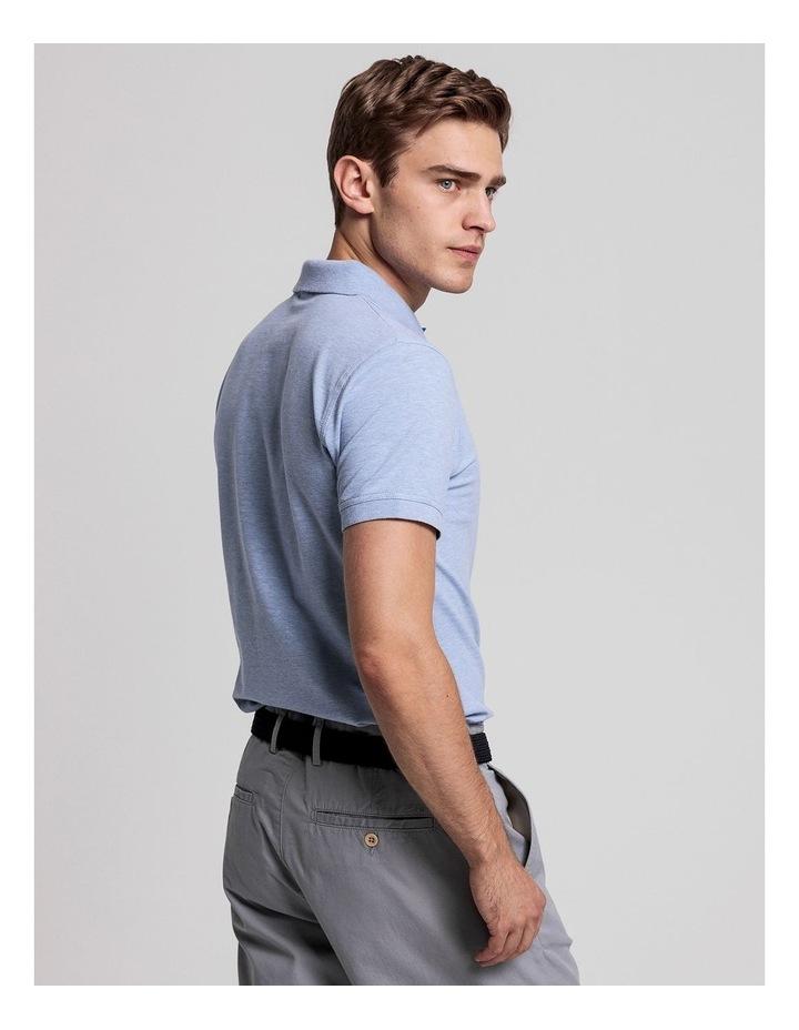 Contrast Collar Pique Short Sleeve Rugger Polo image 2