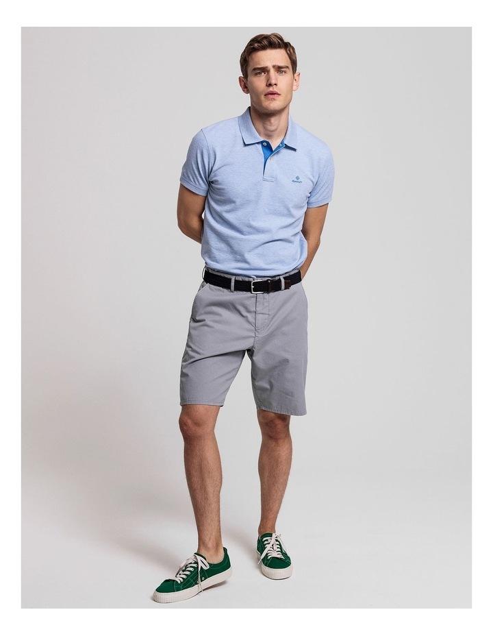 Contrast Collar Pique Short Sleeve Rugger Polo image 4