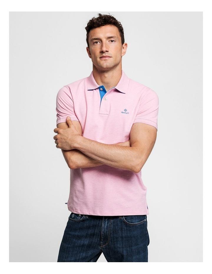 Contrast Collar Pique Short Sleeve Rugger Polo image 1