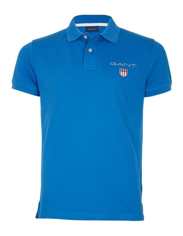 Medium Shield Pique Short Sleeve Rugger Polo image 1