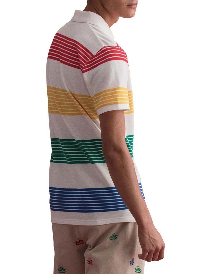 Multistripe Pique Short Sleeve Rugger image 2
