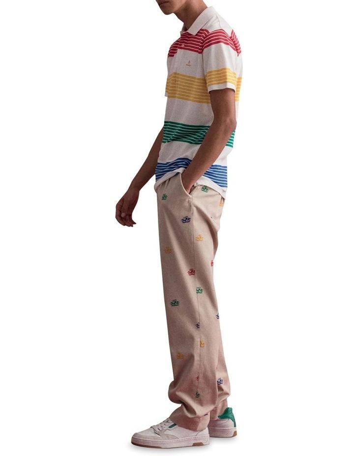 Multistripe Pique Short Sleeve Rugger image 3