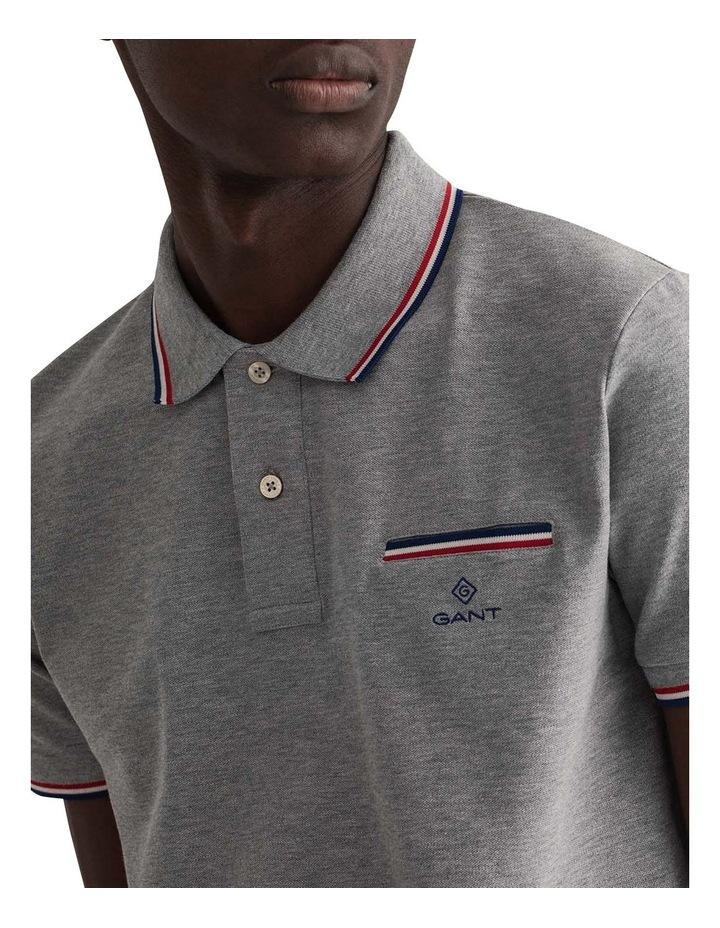 3 Colour Tipping Pique Short Sleeve Rugger image 1