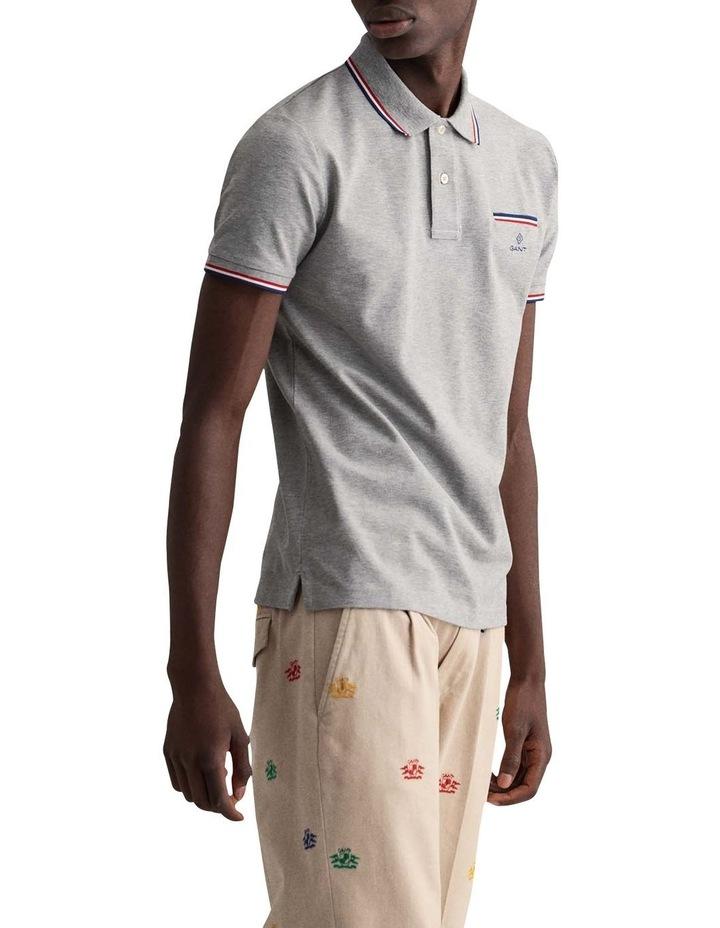 3 Colour Tipping Pique Short Sleeve Rugger image 2