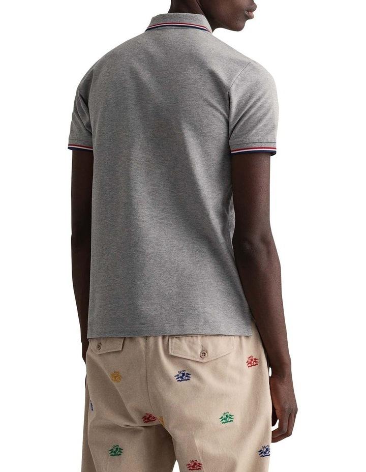 3 Colour Tipping Pique Short Sleeve Rugger image 3
