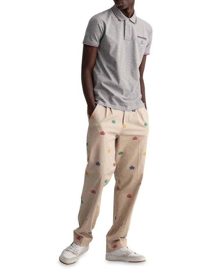 3 Colour Tipping Pique Short Sleeve Rugger image 4