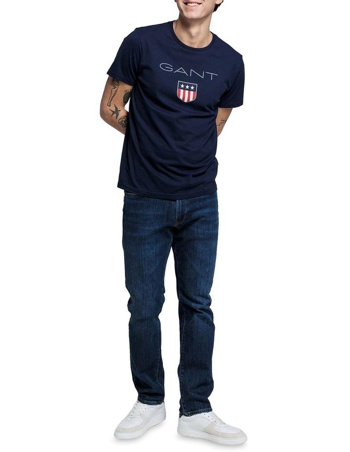 Shield Short Sleeve T-Shirt  Blue image 3