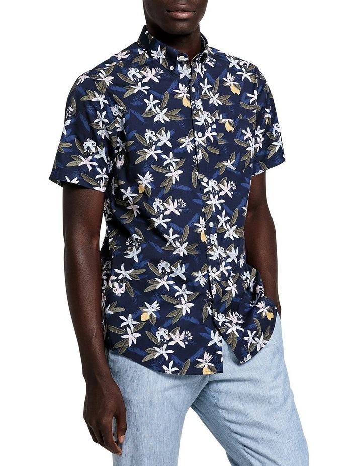 Lemon Flower Print Short Sleeve Shirt image 1