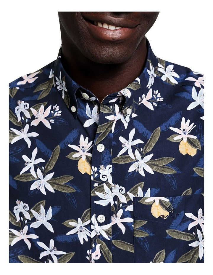 Lemon Flower Print Short Sleeve Shirt image 2