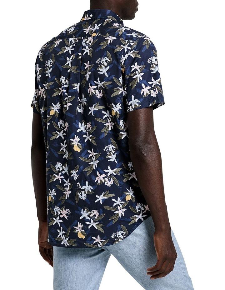 Lemon Flower Print Short Sleeve Shirt image 3