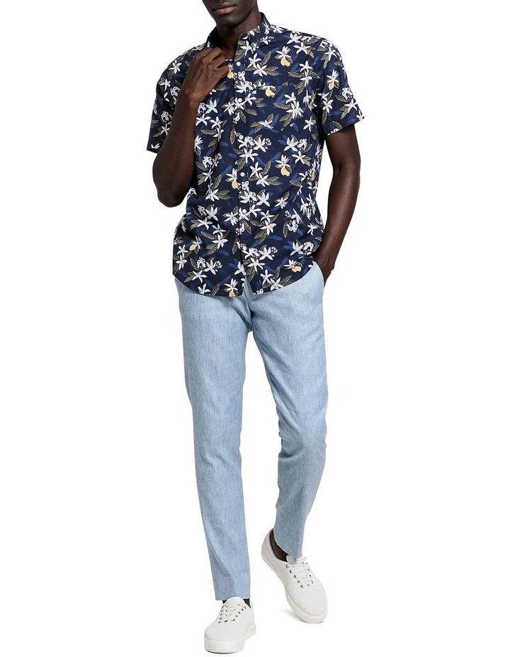 Lemon Flower Print Short Sleeve Shirt image 4