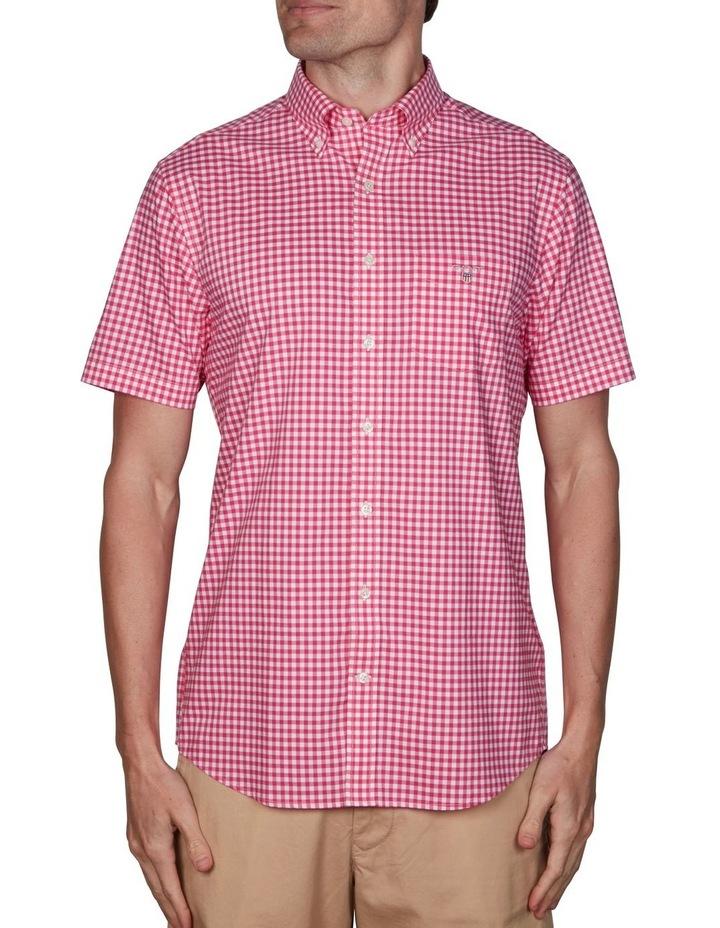 Regular Broadcloth Gingham Short Sleeve Shirt Cabaret Pink image 1