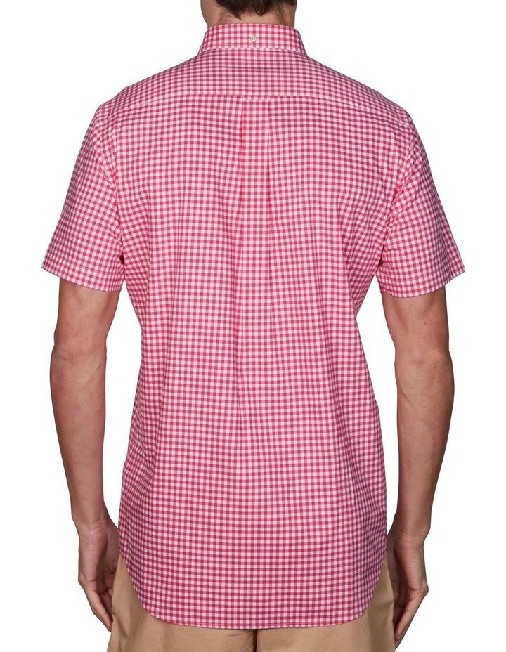 Regular Broadcloth Gingham Short Sleeve Shirt Cabaret Pink image 2