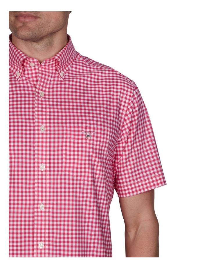 Regular Broadcloth Gingham Short Sleeve Shirt Cabaret Pink image 3