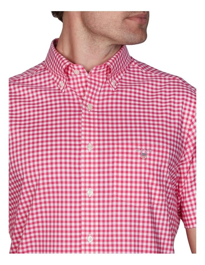 Regular Broadcloth Gingham Short Sleeve Shirt Cabaret Pink image 4