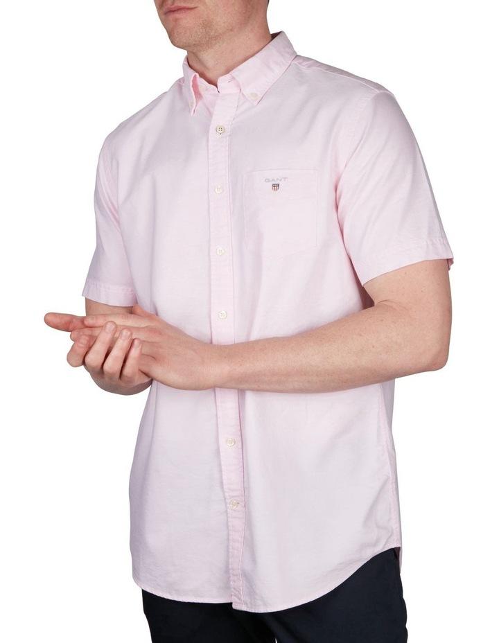 The Oxford Regular Short Sleeve Shirt Light Pink image 1