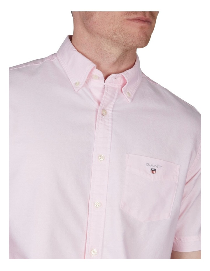 The Oxford Regular Short Sleeve Shirt Light Pink image 3