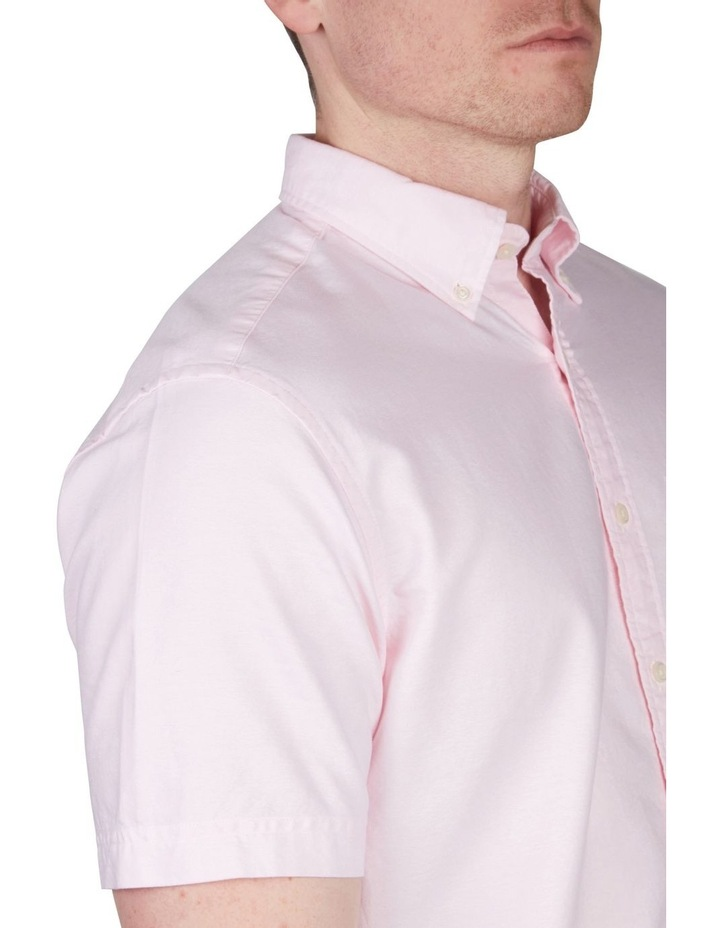 The Oxford Regular Short Sleeve Shirt Light Pink image 4
